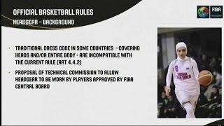 الاتحاد الدولي لكرة السلة الفيبا يلغي المادة التي كانت تحظر ارتداء الحجاب |