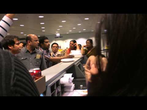 Air India Airport Fight In Terminal!