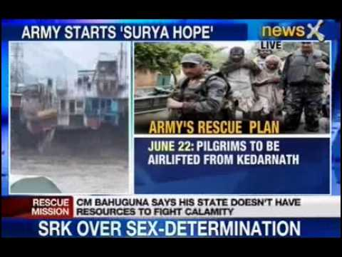NewsX: Army renames rescue operation as 'Surya Hope'