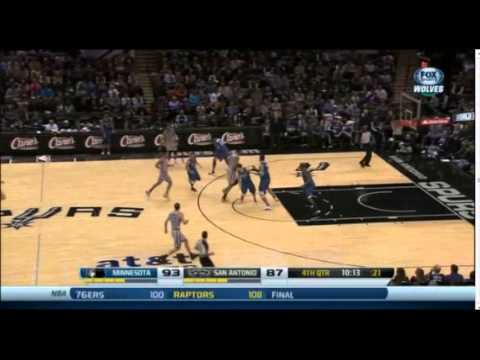 Manu Ginobili 20 Points 9 Assists Full Highlights Spurs vs Timberwolves (12.13.2013)