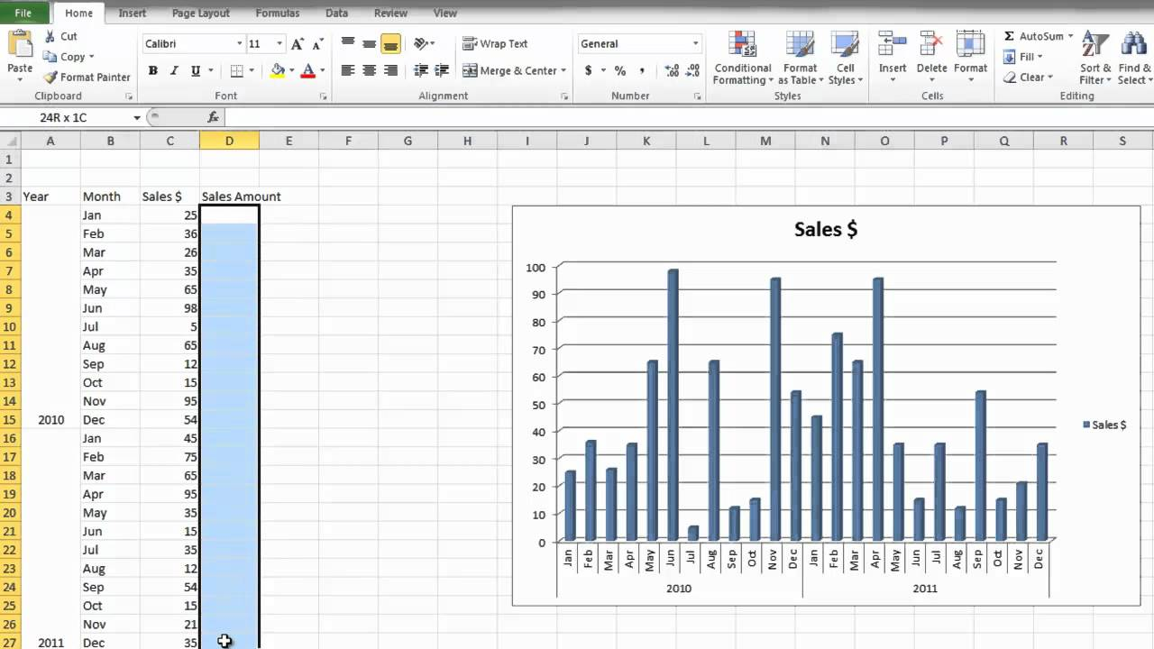 how to teach excel 2010 to beginners