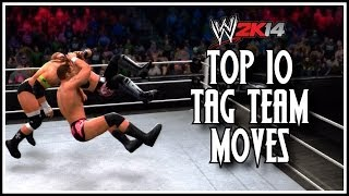 WWE 2K14 Top 10 Tag Team Moves! (WWE 2K14 Countdown