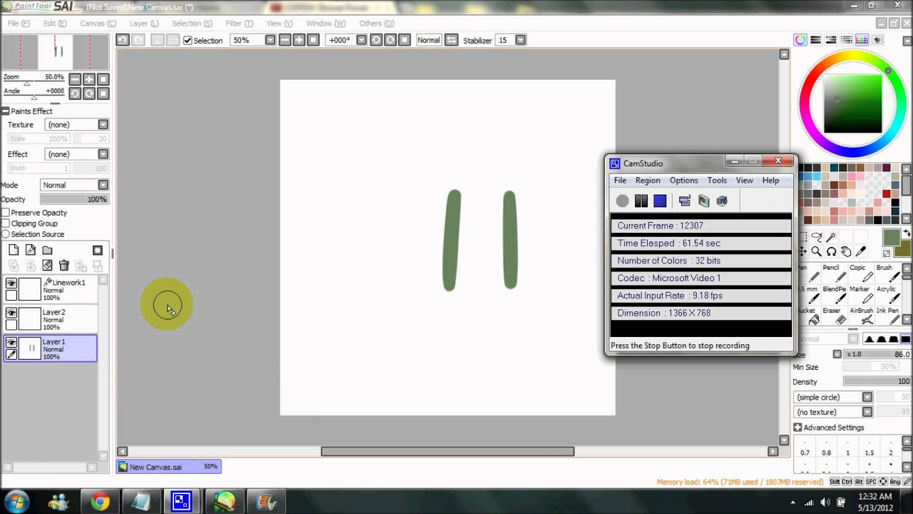Quick guide how to use paint tool sai youtube for Paint tool sai free full version