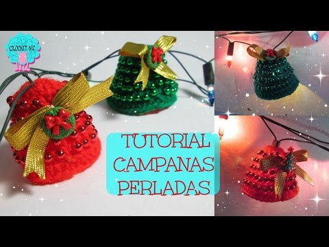 Tutorial Campanas navideñas a crochet / luces