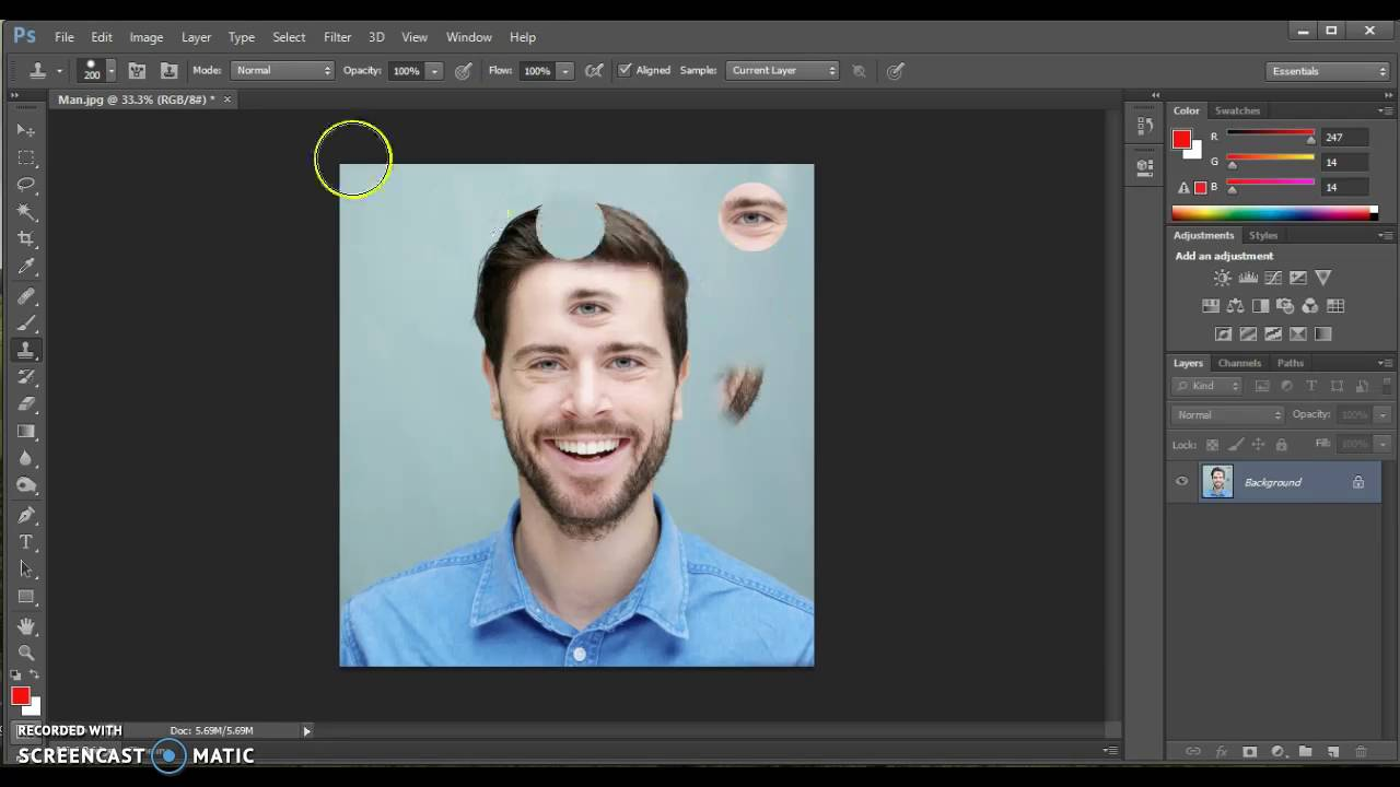 cara menggunakan patch tool di photoshop cs3