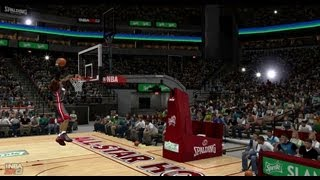 NBA 2K13 Dunk Contest Feat Lebron James, Russell