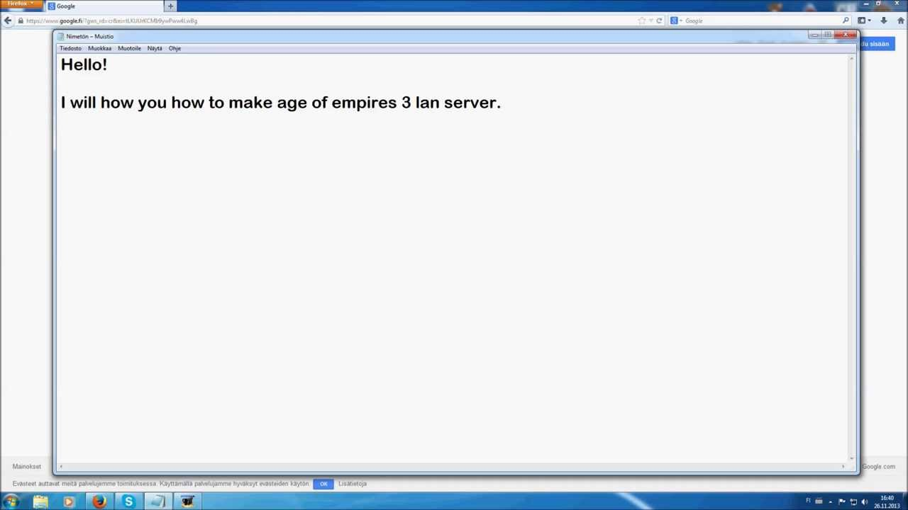 How to make Age of Empires 3 LAN SERVER (NO HAMACHI NEEDED ...