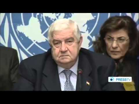 Walid a  Muallem Press Conference in Geneva 31 \ 01 \ 2014