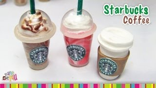 Starbucks Coffee (LID) Polymer Clay Tutorial / Café De