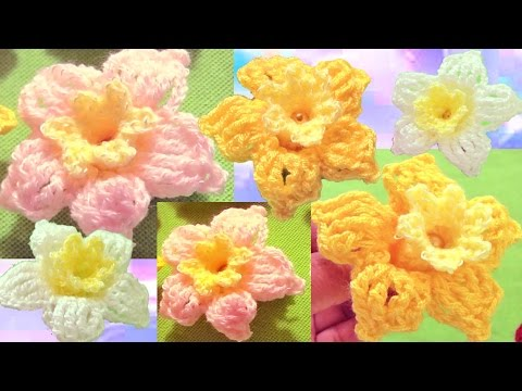 Aprende como tejer a Crochet  flores campanitas de colores - Flower Crochet