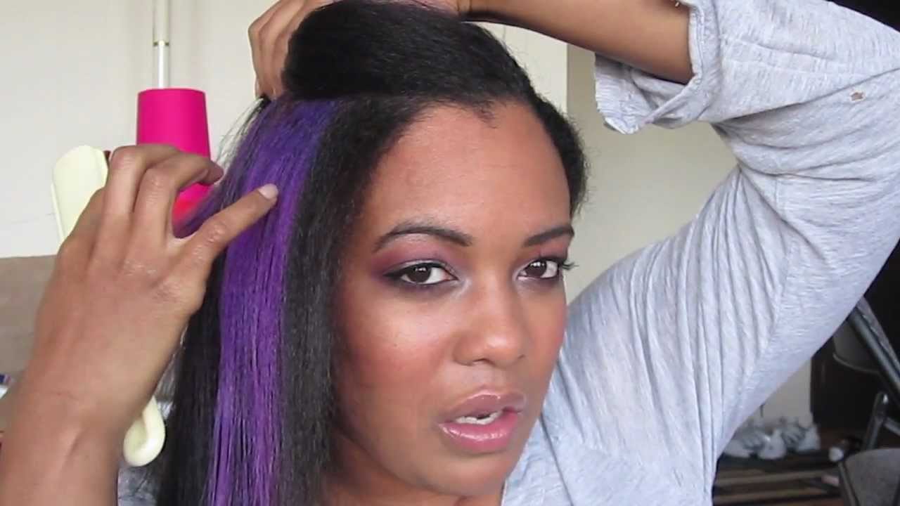Displaying 20> Images For - Black Hair With Purple Peekaboos...