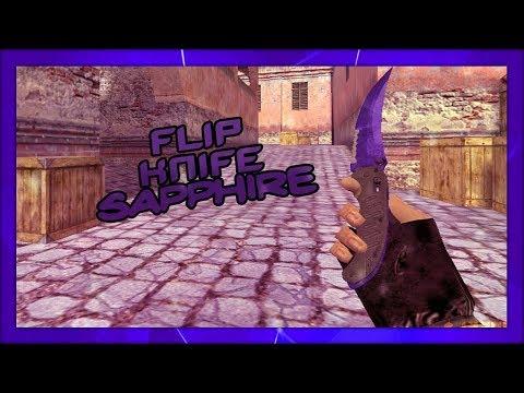 ⚡ FLIP KNIFE DOPPLER SAPPHIRE CS:GO PARA CS 1.6 [Default]