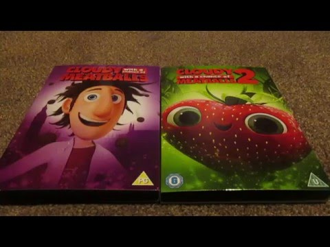 Cloudy With A Chance Of Meatballs 1 And 2 (UK) DVD Unboxing