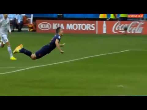 Robin Van Persie Goal World Cup 2014 Spain Vs Netherlands