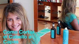 Como Cortar Una Cabello A Capas How To Cut Your Own Hair