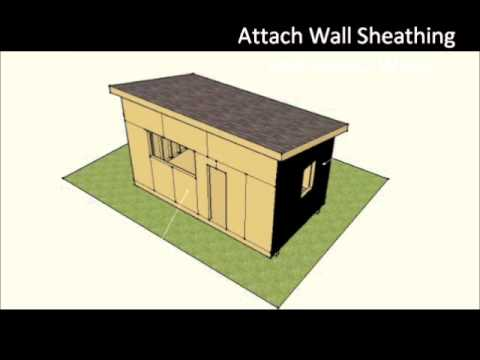 How To Build A Small Solar Powered Off-Grid Cabin Home - 18'x10'