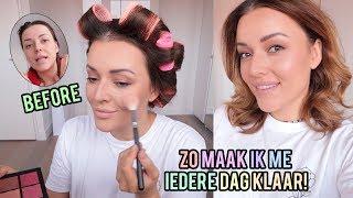Get ready with me ❤ Mijn dagelijkse haar en make-up!   Beautygloss