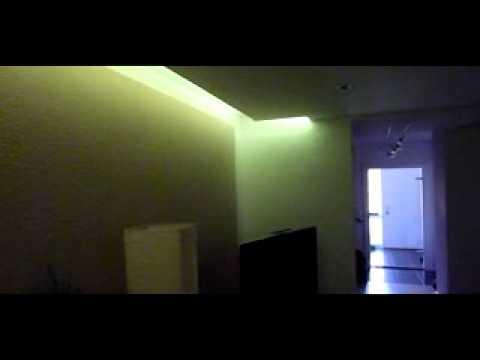 led hintergrundbeleuchtung decke youtube. Black Bedroom Furniture Sets. Home Design Ideas
