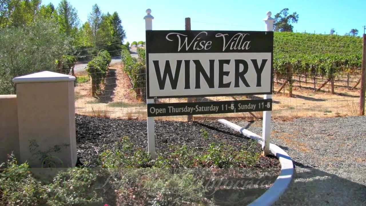 wise villa winery lincoln california youtube