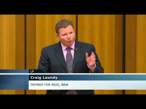 Craig Laundy MP speaking in Parliament (03/03/14)