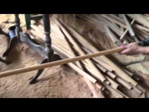 Palos redondos de escoba hechos a mano