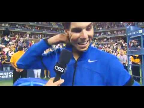 Rafael Nadal Interview after Beating Andy Murray - Us Open 10/9/11