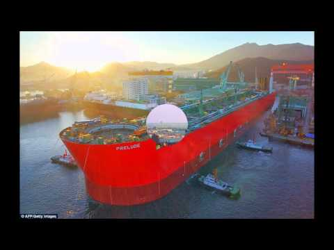 The world's largest vessel 'Prelude' floats for the first time