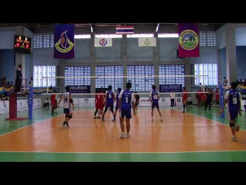 Asian School Volleyball Championship 2014 HK vs Indonesia Part 1/5
