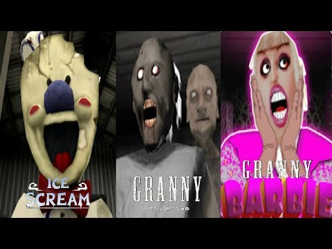 Ice Scream VS Granny Chapter Two VS Barbie Granny Funny Experiment Moments Horror Gameplay