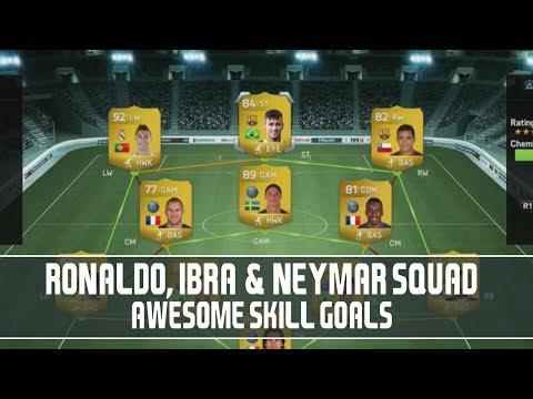 Ronaldo, Ibra & Neymar Squad - Awesome Skill Goals!