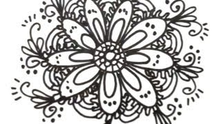 How To Draw Cool Designs Draw Flower Designs