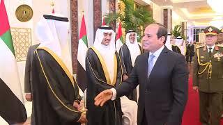 الرئيس السيسى يصل أبوظبى فى زيارة رسمية