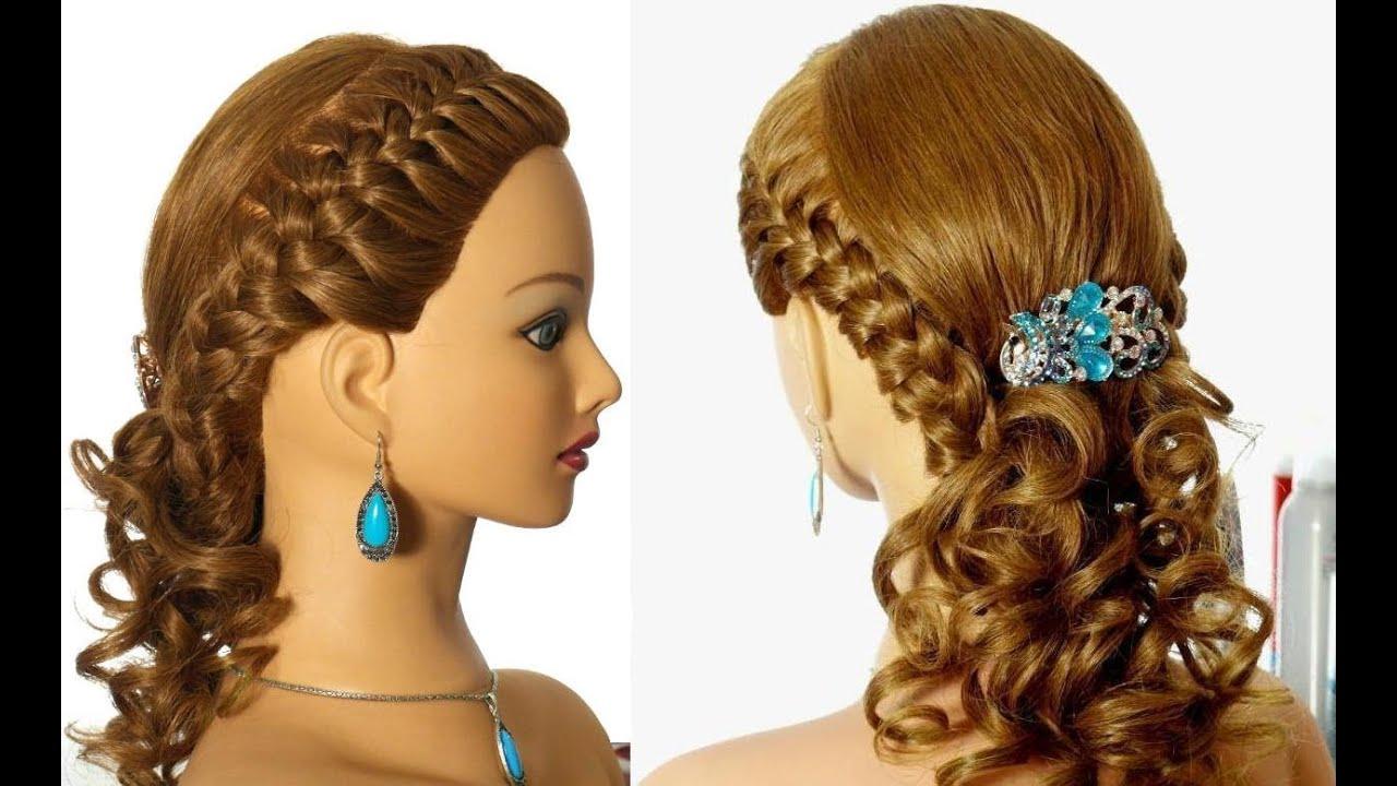 Braid Hairstyles For Long Hair Youtube : Romantic braided prom hairstyle for long hair. - YouTube