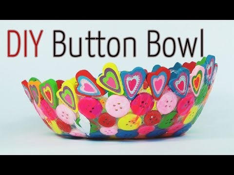 Diy craft button bowl youtube for Diy crafts youtube channels