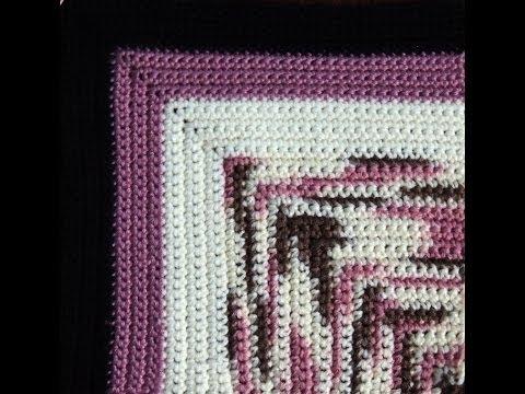 Crochet : Manta en Cuadrados