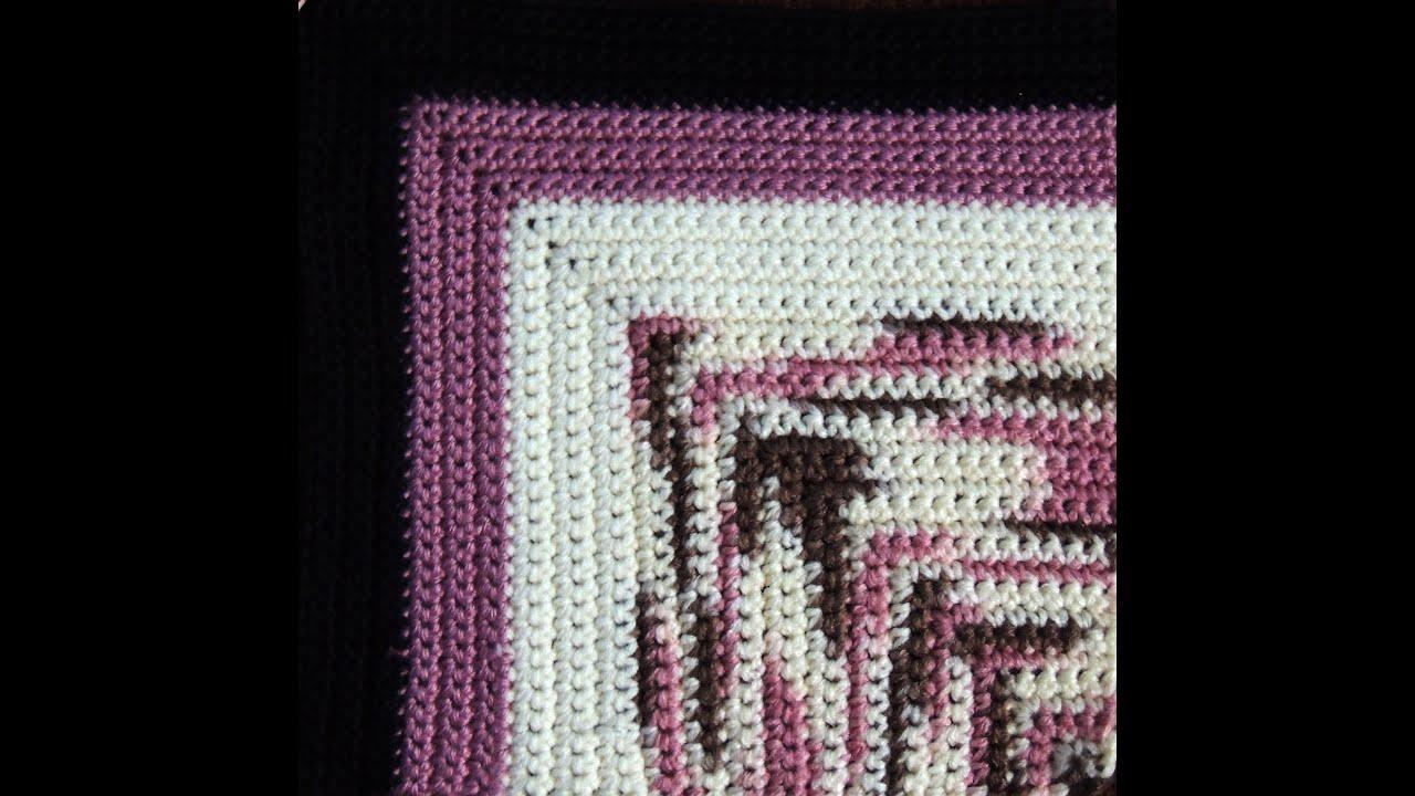 Crochet manta en cuadrados youtube - Manta de crochet facil ...
