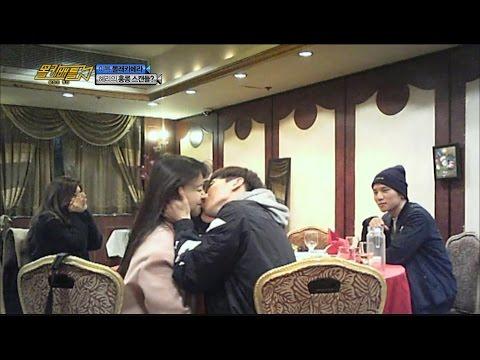 [Candid shot Battle] 몰카 배틀 : 왕좌의 게임 - Hyeri,act imprudently to Min-ah&Leeteuk Kiss! 20160209