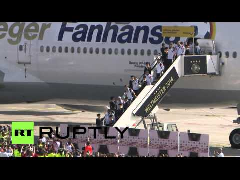 Germany: Screams of joy as WC winners land at Berlin airport
