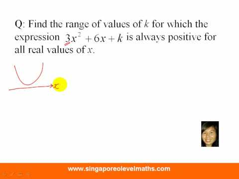 GCE 'O' Level Additional Mathematics Question on Quadratic Equation and Discriminant