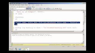 Respaldar Y Restaurar Base De Datos En SQL Server 2008 R2