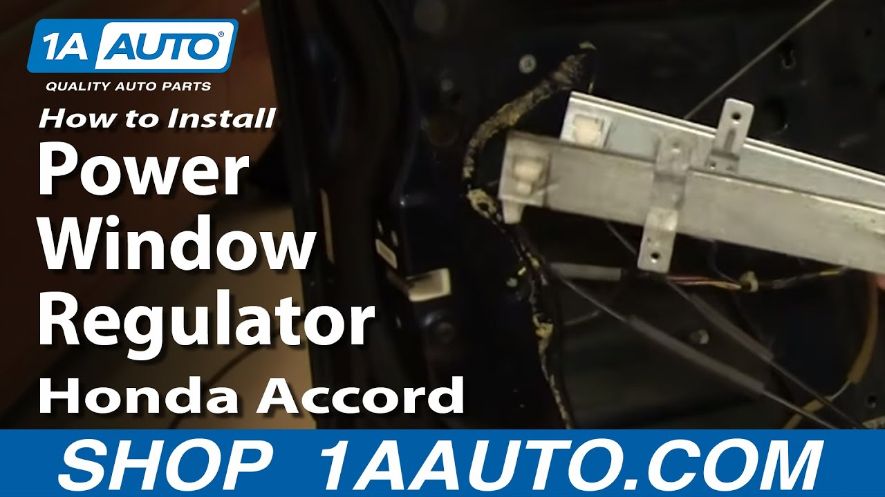 How To Install Repair Replace Power Window Regulator Honda