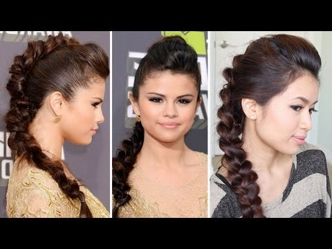 Selena Gomez MTV Movie Awards 2013 Hairstyle | Braided Faux Hawk Hair Tutorial - Bebexo, How to do the Braided Faux Hawk hairstyle worn by Selena Gomez at the MTV Movie Awards last weekend. Thumbs up for more celebrity inspired looks. ♥ Learn how...
