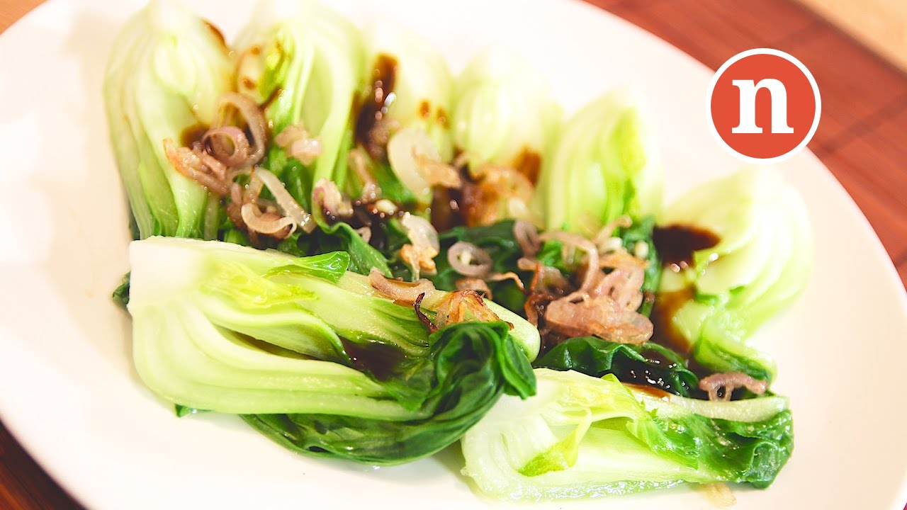 baby pak choi with oyster sauce youtube. Black Bedroom Furniture Sets. Home Design Ideas