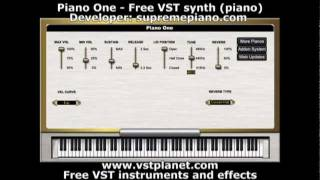 Piano One Free VST Synth (piano) Vstplanet.com