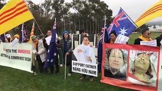 Cộng đồng Úc Châu bất ngờ biểu tình đòi công lý cho Nguyễn Hữu Tấn-Vương Văn Thả và cha Nam-cha Thục