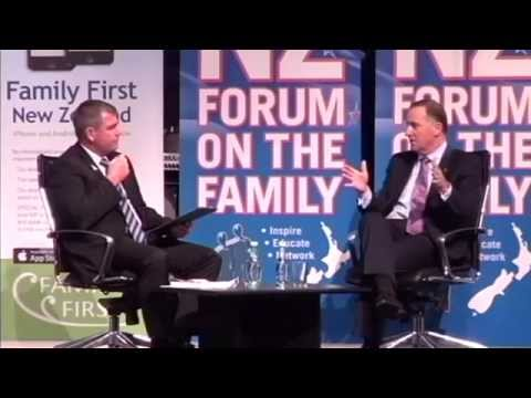 John Key interviewed by Bob McCoskrie - Forum on the Family 2014