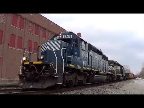 NS 323 SD40-2 Ex leaser at Wayne Pump, Horsehead at Runnion Ft Wayne Indiana