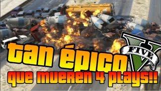 GTA V Online - TAN ÉPICO QUE PETAMOS 4 PLAYS XDDDD