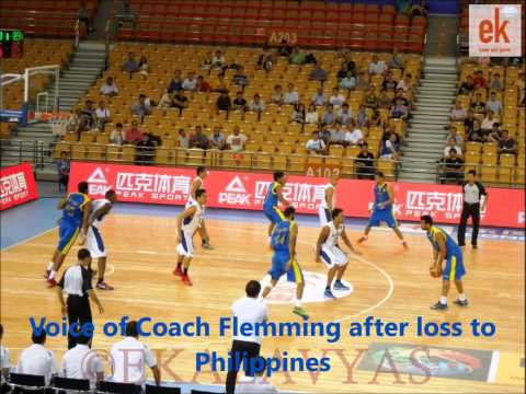 Indian Men's Basketball Head Coach Flemming after the Philippines match in the 5th FIBA Asia Cup