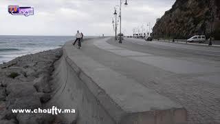 بعد نشرة تحذيرية من الميني تسونامي..هذه حالة أمواج البحر بطنجة |